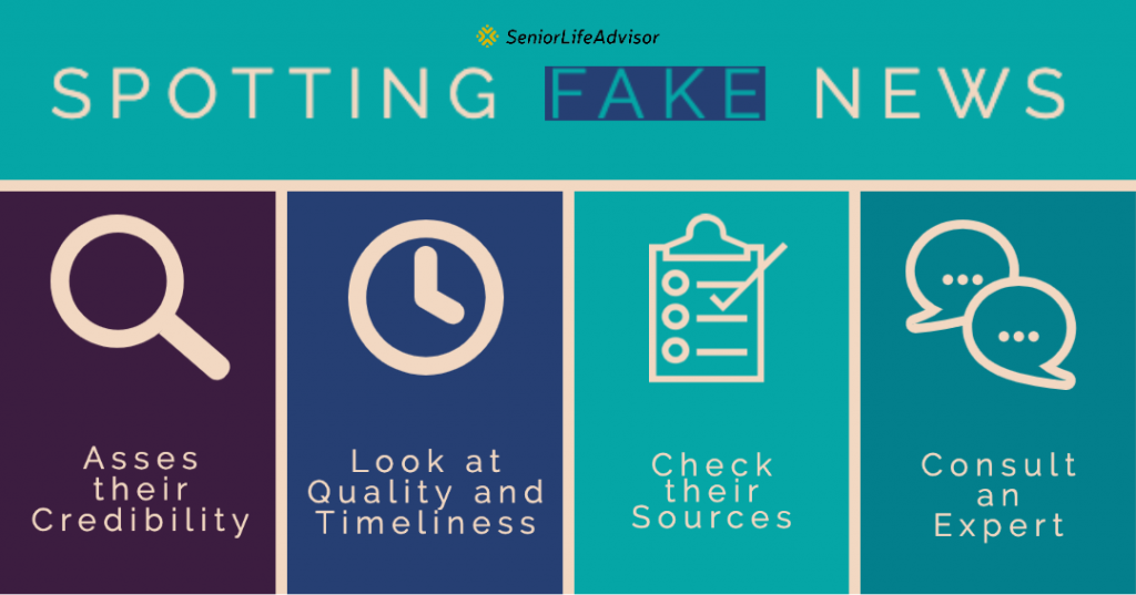 Tips for spotting COVID-19 fake news.